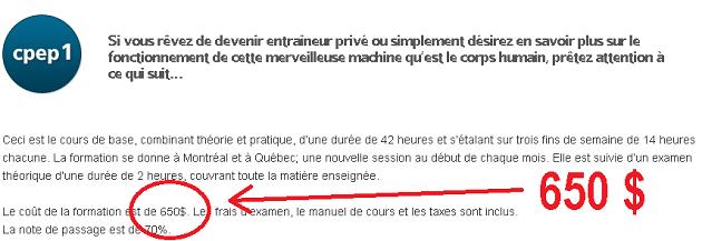 Formation niveau 1 Alexandre Paré