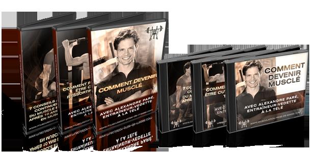 Ensemble de 3 DVD et 3 CD avec Alexandre Paré