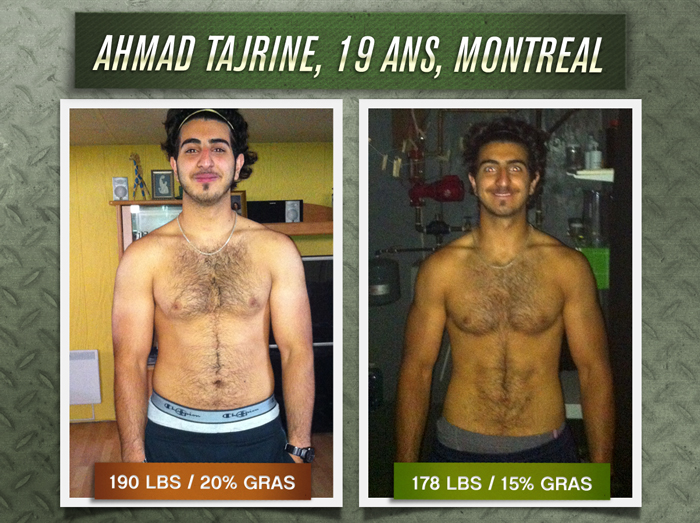 Ahmad Tajrine transformation physique