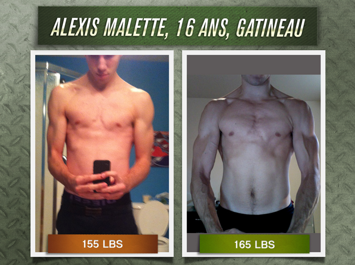 Alexis Malette transformation physique