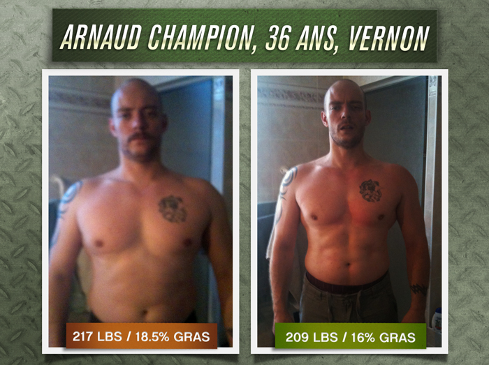Arnaud Champion transformation physique
