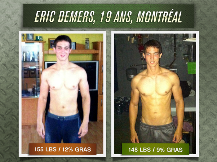 Eric Demers transformation physique